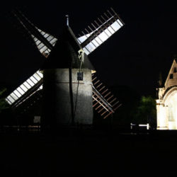 The windmills in the night